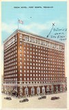 Linen Texas postcard Texas Hotel - Fort Worth,Texas