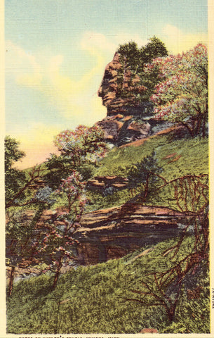 "Linen Postcard Front ""The Indian"" near Winona,Minnesota"