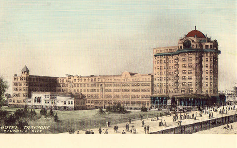Old postcard Hotel Traymore - Atlantic City,New Jersey
