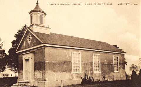 Old postcard Grace Episcopal Church - Yorktown,Virginia