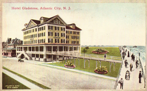 Vintage postcard - Hotel Gladstone - Atlantic City,New Jersey