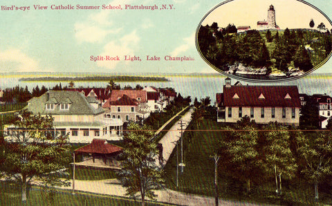 Bird's - Eye View of Catholic Summer School - Plattsburgh,New York