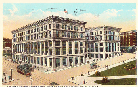 Vintage postcard The King County Court House - Seattle,Washington