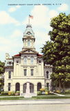 Linen postcard Cabarrus County Court House - Concord,North Carolina