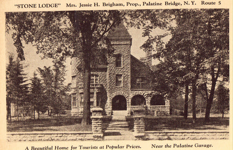 "Vintage postcard ""Stone Lodge"" - Palatine Bridge,New York"