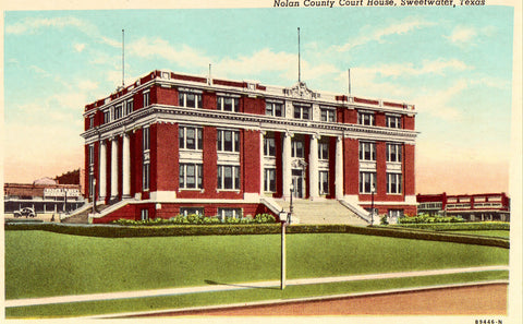 Vintage postcard Nolan County Court House - Sweetwater,Texas