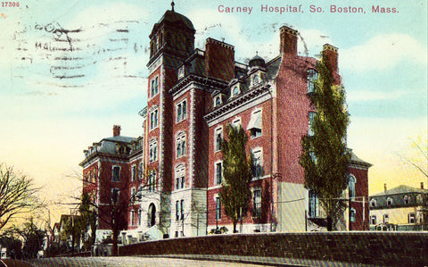 Vintage postcard Carney Hospital - So. Boston,Massachusetts