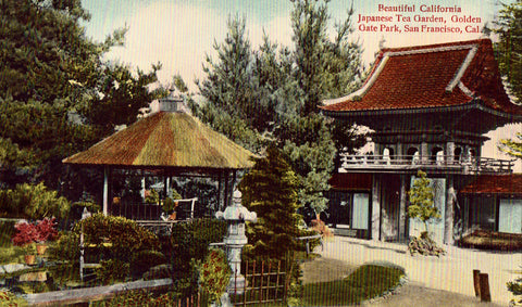 Vintage postcard Beautiful California Japanese Tea Garden,Golden Gate Park - San Francisco,California
