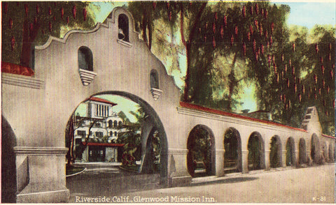 Vintage postcard Glenwood Mission Inn - Riverside,California