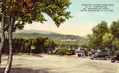 Linen postcard Franconia Range from Base of Mt. Washington - White Mountains,N.H.