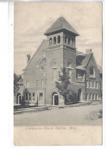 Presbyterian Church-Cadillac,Michigan - Cakcollectibles - 1