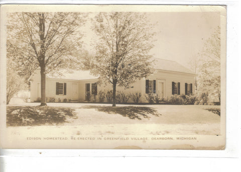 RPPC-Edison Homestead-Re-Erected in Greenfield Village-Dearborn,Michigan 1936 - Cakcollectibles - 1