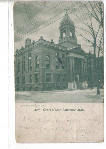 Court House-Lawrence,Massachusetts 1912 - Cakcollectibles - 1