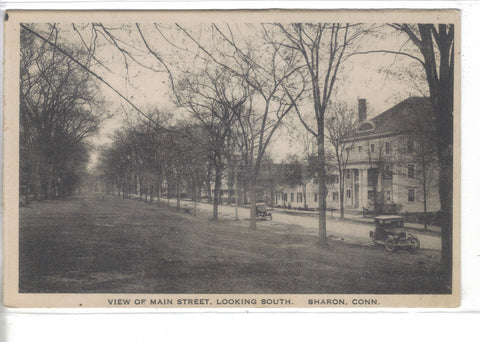 View on Main Street,Looking South-Sharon,Connecticut - Cakcollectibles - 1