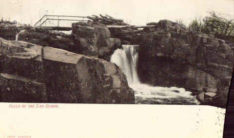 Vintage postcard Dells of The Eau Claire - Wisconsin