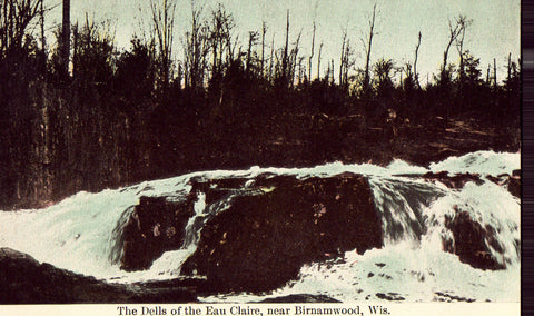 Vintage postcard The Dells of The Eau Claire near Birnamwood,Wisconsin