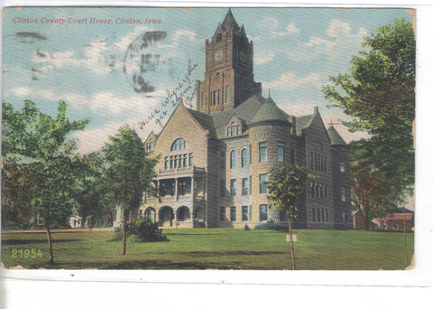 Clinton County Court Huse-Clinton,Iowa 1907 - Cakcollectibles - 1