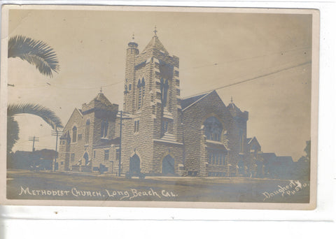 RPPC-Methodist Church-Long Beach,California - Cakcollectibles - 1