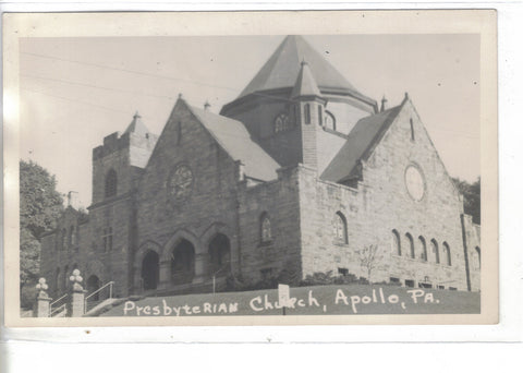 RPPC-Presbyterian Church-Apollo,Pennsylvania - Cakcollectibles - 1