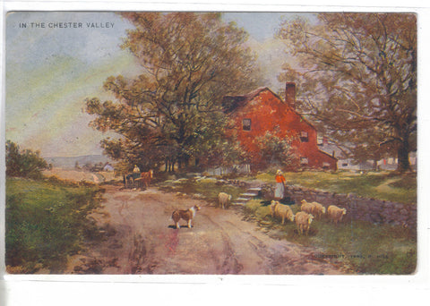 Early Post Card-In The Chester Valley 1907 - Cakcollectibles - 1
