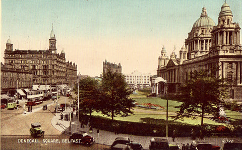 Vintage postcard Donegall Square - Belfast,Ireland