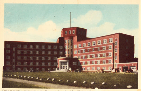 Vintage postcard Civic Hospital - Peterborough,Ontario,Canada