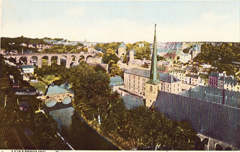 Vintage postcard Panorama - Luxembourg