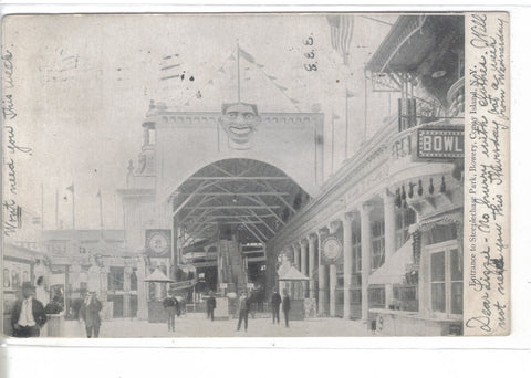 Entrance to Steeplechase Park,Bowery-Coney Island,New York 1907 - Cakcollectibles - 1