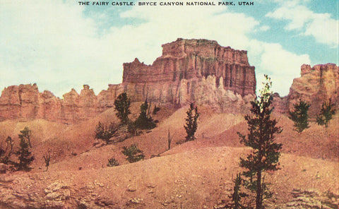 Vintage postcard The Fairy Castle - Bryce Canyon National Park - Utah