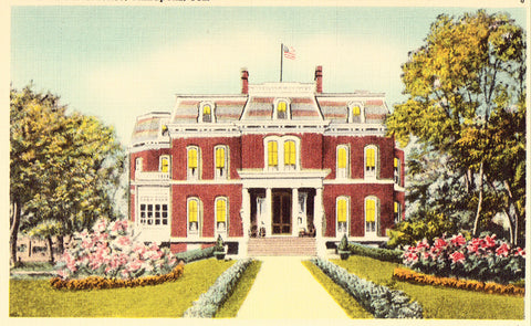 Linen postcard Governor's Residence - Annapolis,Maryland