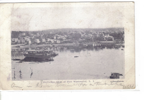 Bird's-Eye View of Port Washington,Long Island,New York 1907 - Cakcollectibles - 1