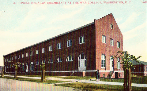 Vintage postcard A Typical U.S. Army Commissary at The War College - Washington,D.C.