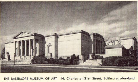 Vintage postcard The Baltimore Museum of Art - Baltimore,Maryland