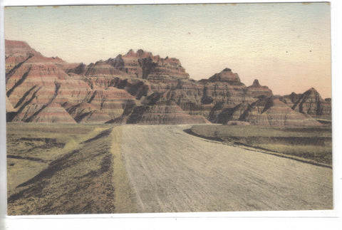 Prehistoric Graveyard,Foss Beds,Badlands National Monument-S.D. (Hand Colored) - Cakcollectibles - 1