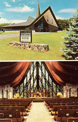 Vintage postcard First Evangelical Lutheran Church - Lake Geneva,Wisconsin