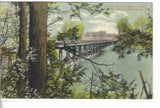 Boardwalk and Boat House at Waldamere-Erie,Pennsylvania - Cakcollectibles - 1
