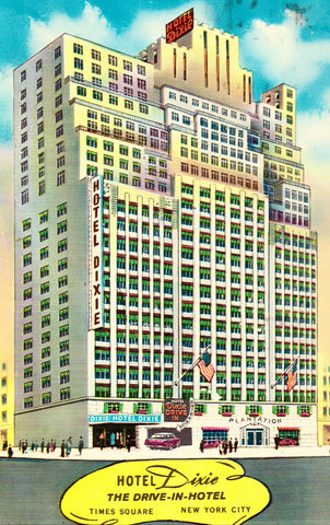 Vintage postcard Hotel Dixie - New York City