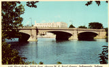Vintage postcard 30th Street Bridge,showing U.S. Naval Armory - Indianapolis,Indiana