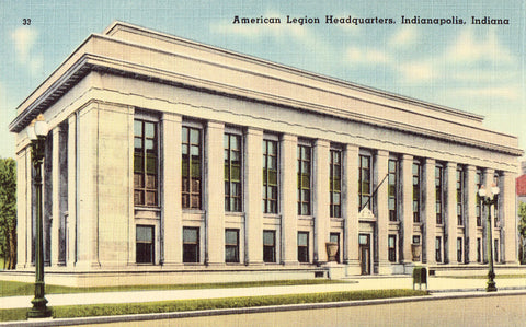 Linen Post Card American Legion Headquarters - Indianapolis,Indiana