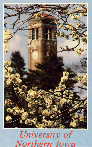Vintage postcard Campanile,University of Northern Iowa - Cedar Falls,Iowa