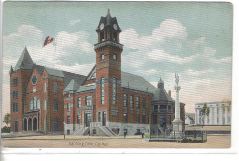 City Hall-Danbury,Connecticut - Cakcollectibles - 1