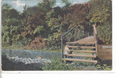 Rustic Stairs to West Hill-Ilion,New York 1907 - Cakcollectibles - 1