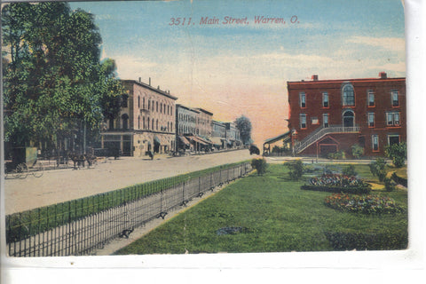 Main Street-Warren,Ohio 1912 - Cakcollectibles - 1