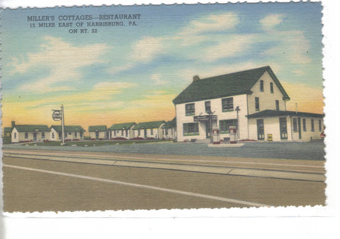 Miller's Cottages - Restaurant near Harrisburg,Pa. - Cakcollectibles - 1