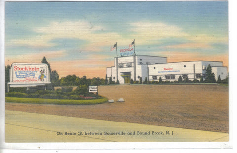 Stockholm Restaurant,Route 29 between Somerville and Bound Brook,New Jersey - Cakcollectibles - 1
