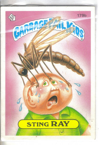 Original Garbage Pail Kids 1986 #179b Sting Ray front