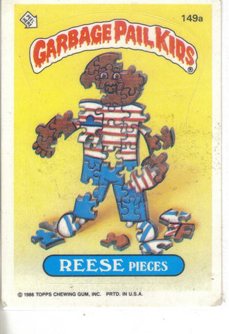 Garbage Pail Kids 1986 #149b Reese Pieces GPK sticker front