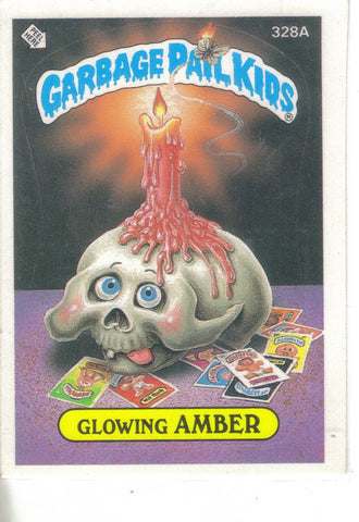 Garbage Pail Kids 1987 #328A Glowing Amber Garbage Pail Kids