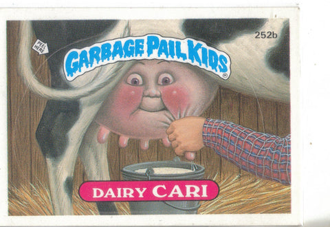 Garbage Pail Kids 1987 #252b Dairy Cari vintage collectible front