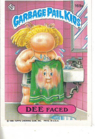 Garbage Pail Kids 1986 #169a Dee Faced